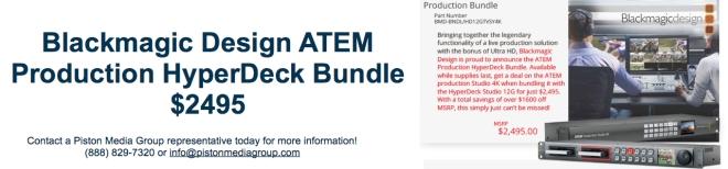 Blackmagic Design Piston Media Group